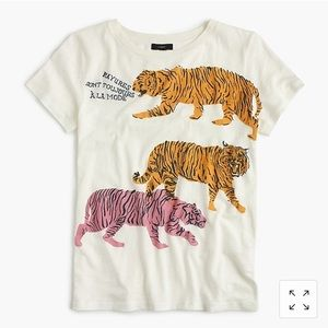 J Crew Tiger Vintage Cotton Tee